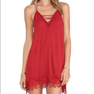 Free People Red Lace Tunic BNWT Size XS